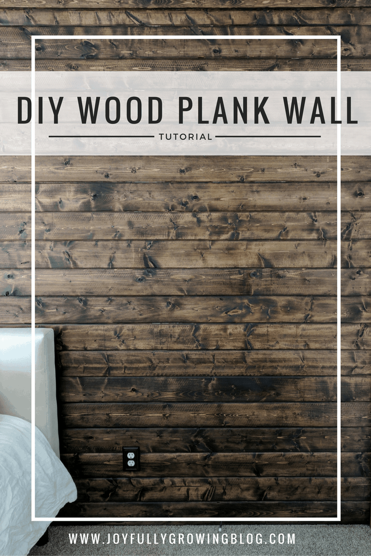 DIY Wood Plank Accent Wall - How to DIY a Wood Wall, Complete Tutorial