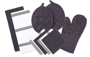 dish towel and oven mitt set for kitchen gift idea