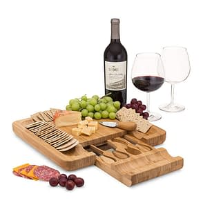 cheese board with cutlery gift set for cook