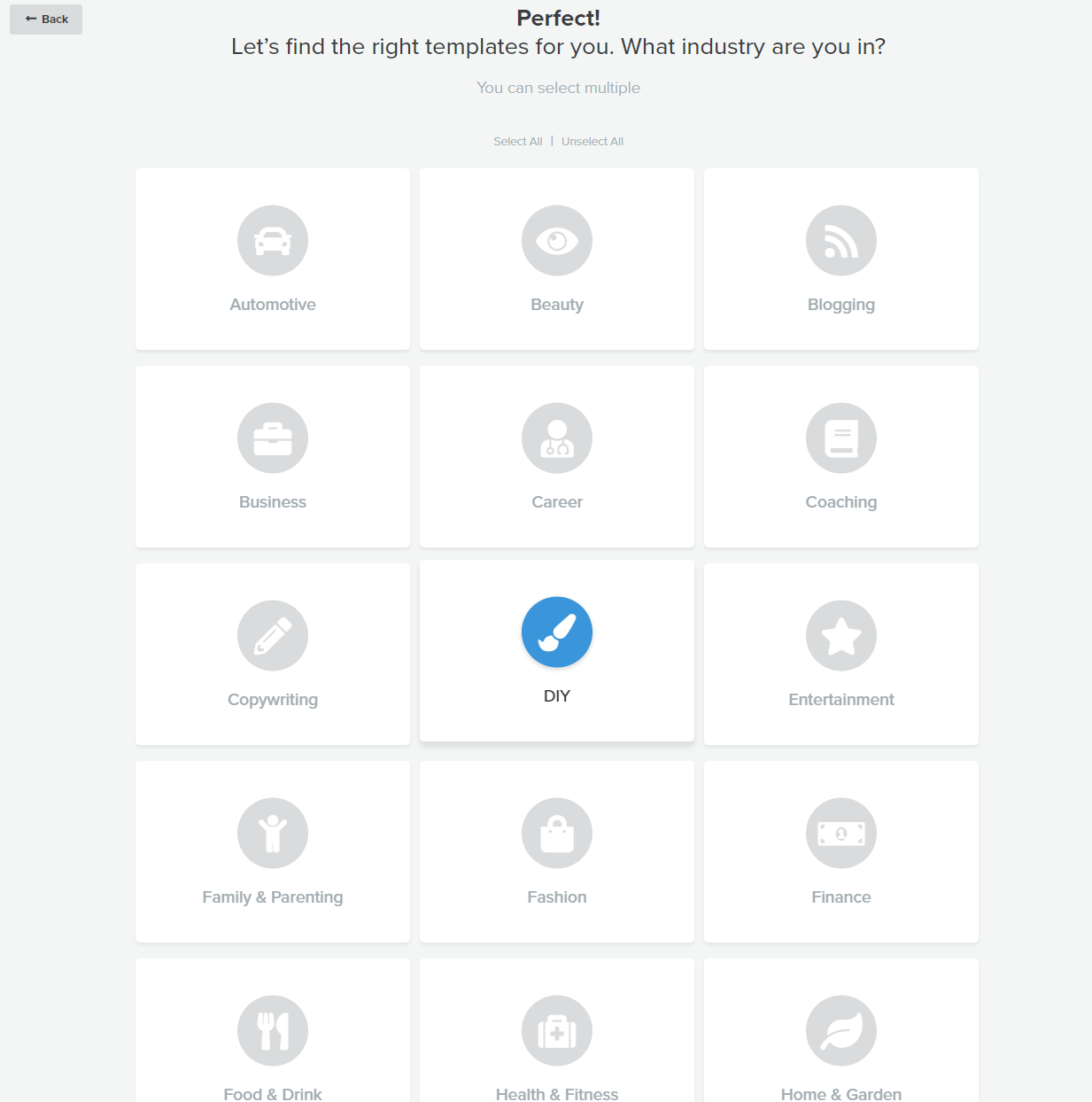 Screenshot of choosing quiz theme when learning how to create a quiz