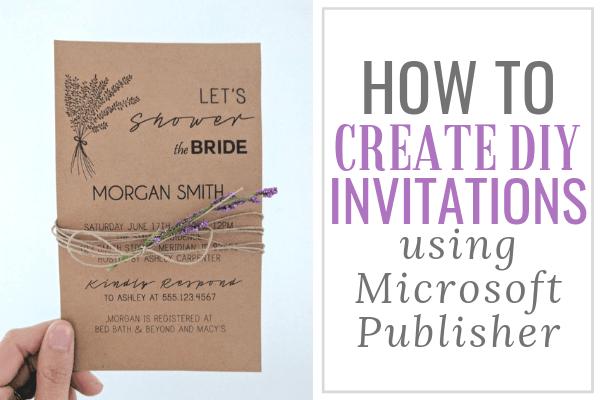 diy invitations in microsoft