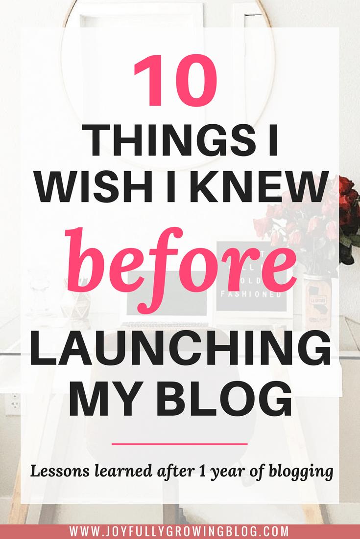 10 things I wish I knew before launching my blog