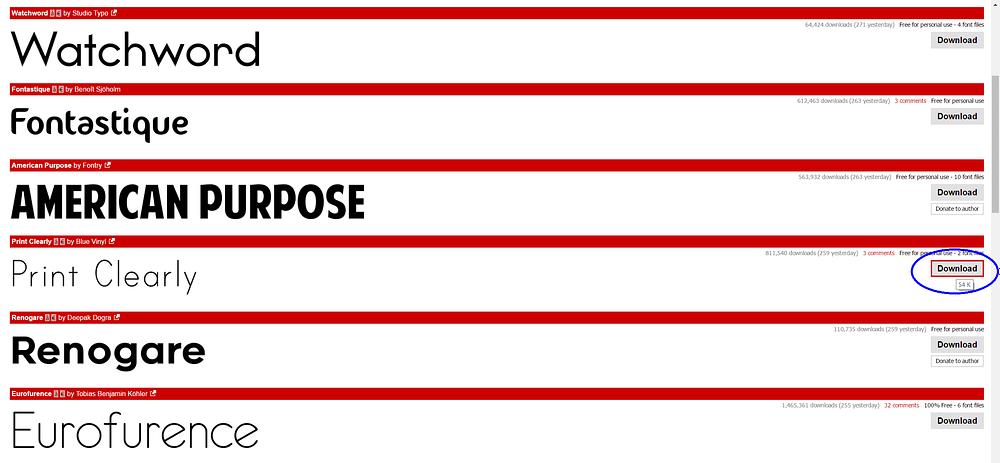 dafont screenshot download custom font