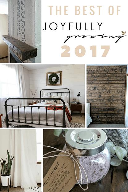 The Best of Joyfully Growing Blog 2017 - Top 10 Most Popular Posts of 2017