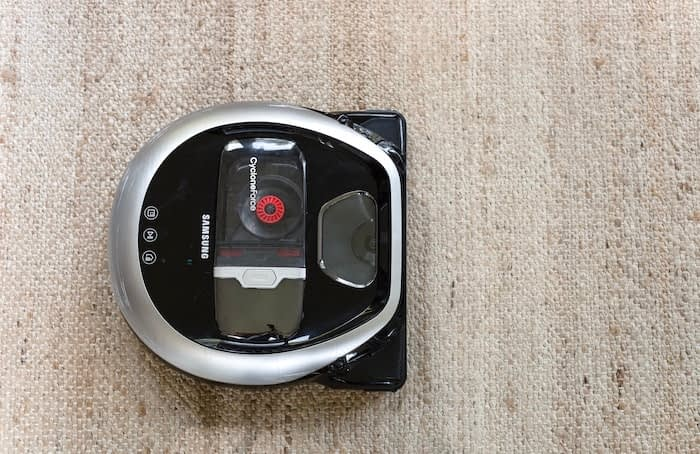 Samsung POWERbot robot vacuum close up