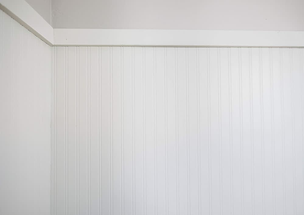 finished paintable beadboard wallpaper
