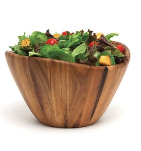 wood salad bowl great as a gift for cook