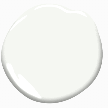Chantilly Lace by Benjamin Moore paint color splotch