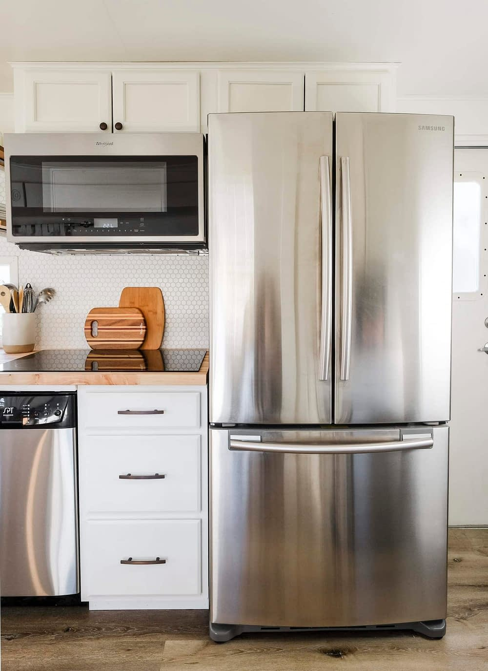 RV kitchen with full size appliances