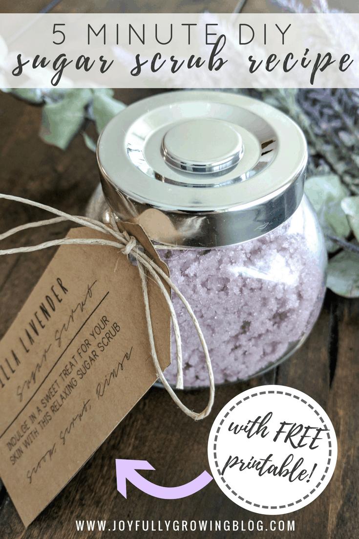 5 Minute DIY Sugar Scrub Recipe