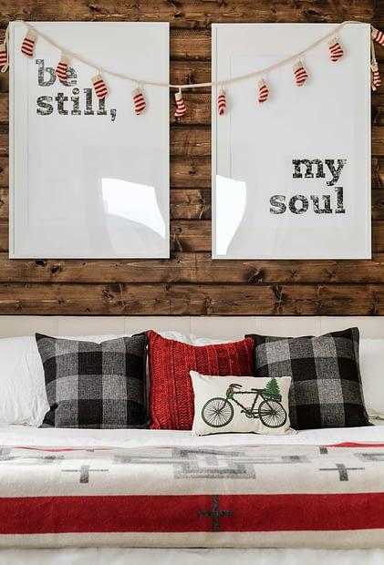 Cozy, Woodsy, Christmas Bedroom
