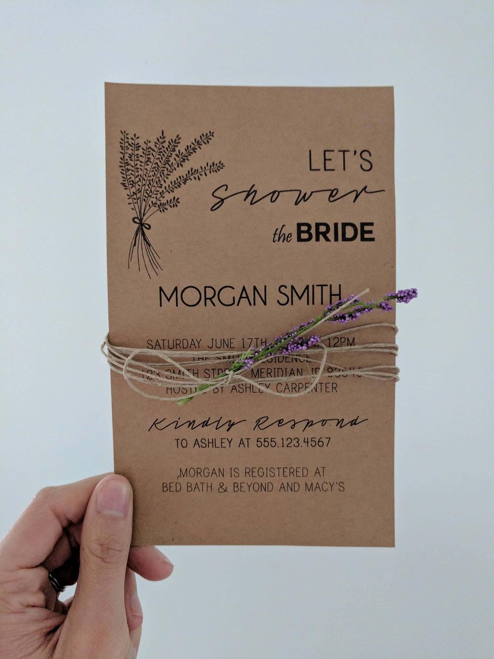 wedding invitation made using Microsoft Publisher