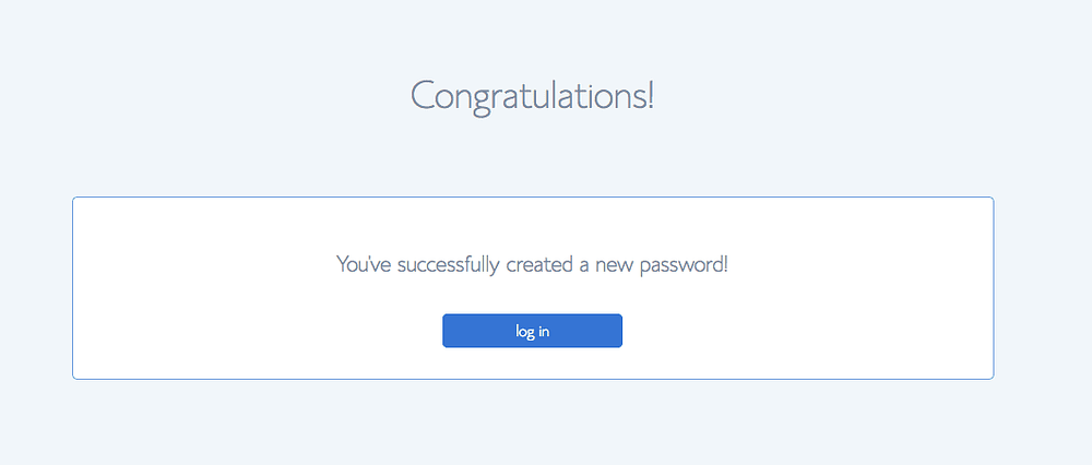 Bluehost tutorial of successful setup confirmation
